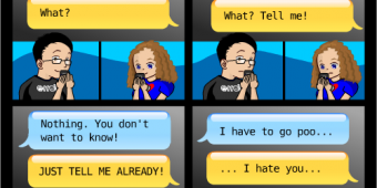 "Comic 363 – ""Texting Fiends"""