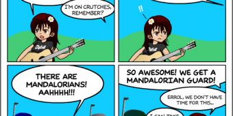 "Comic 882 – ""Masquerade Guards"""