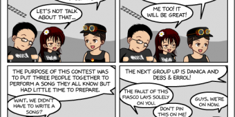 "Comic 887 – ""Band Scramble"""
