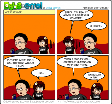 "Comic 1103 – ""Concert Butterflies"""