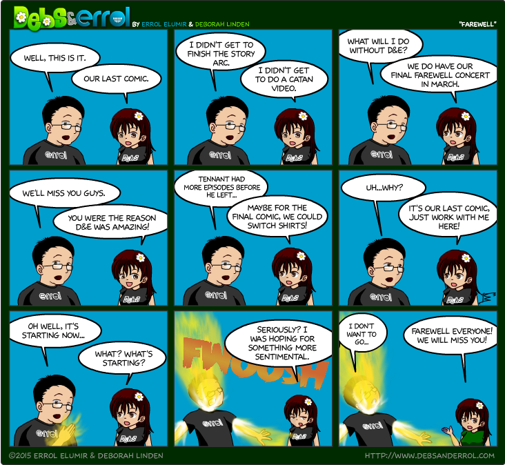 D&E: Farewell Comic